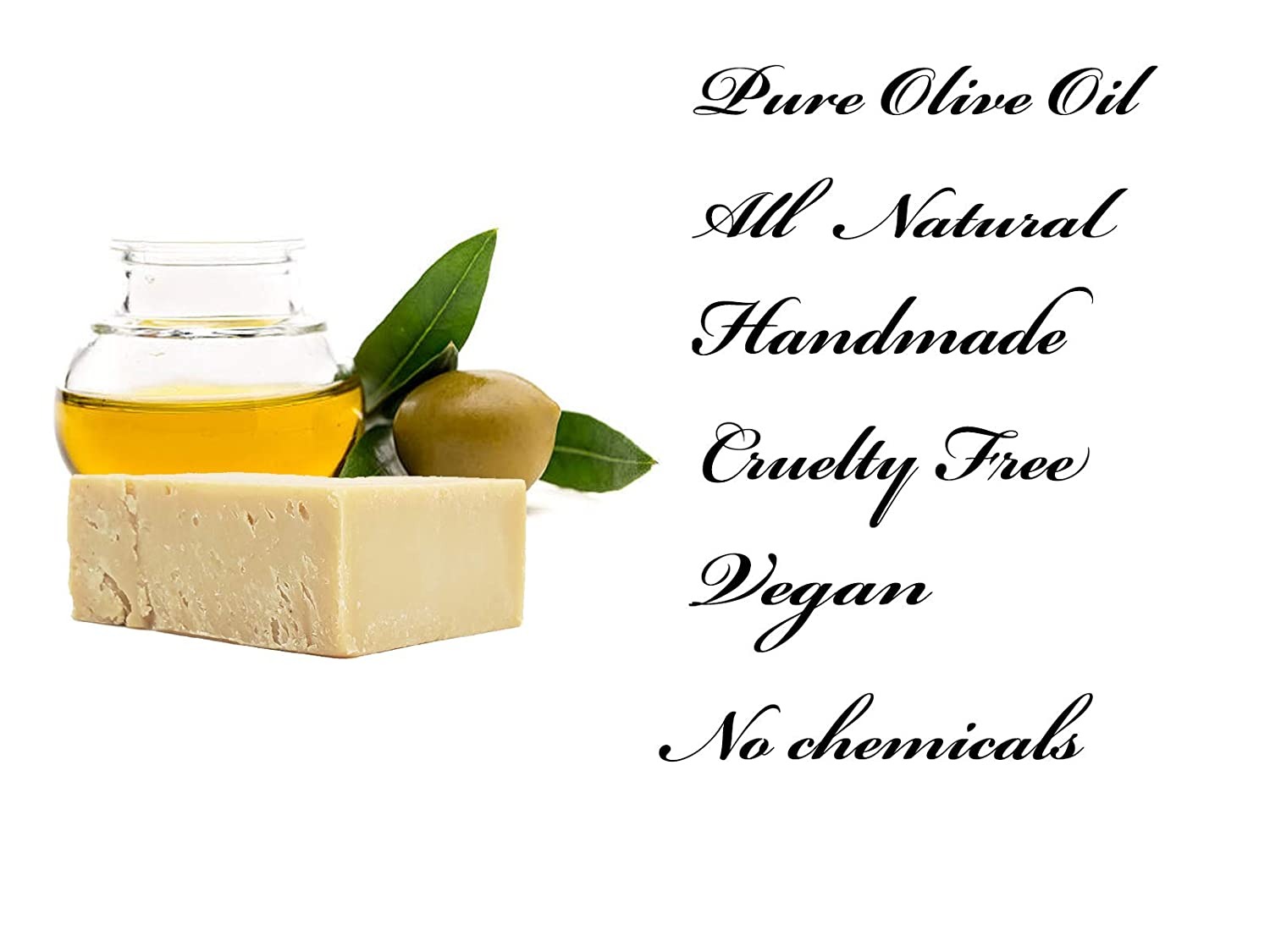 Olive Oil Bar Soap – 100 Natural Pure Artisan Hand Crafted Quality 12 Bar Large Set