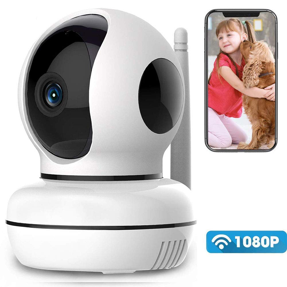 Fbestbody WiFi IP Camera 1080P Wireless Indoor Security Camera with HD Night Vision Motion Detection,Two-Way Audio,Baby Monitor/Pet Camera,Model AQ04