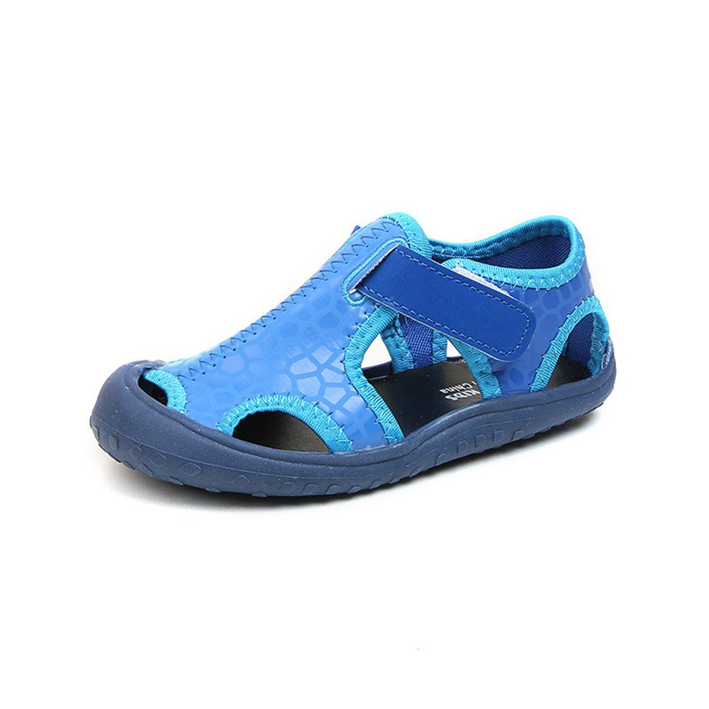 MK MATT KEELY Summer Breathable Water Shoes Blue Kid's Closed-Toe Strap Sports Beach Sandals for Boys Toddler Little Kids,Blue,Toddler 8 M=insole length 15.8cm