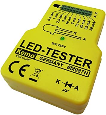 Mini LED Tester Pruefbox 2-150mA 9V Batterie
