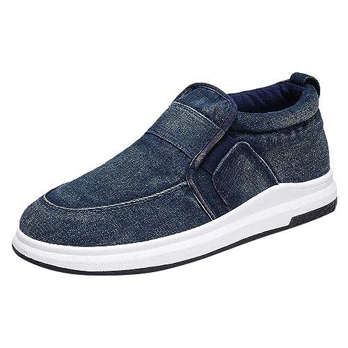 Zapatos Hombre Deportivas Hombre Ofertas Zapatos De Lona para Hombre Tacón Plano Respirable Estilo Deportivo Informal Zapatos Perezosos: Amazon.es: Zapatos ...