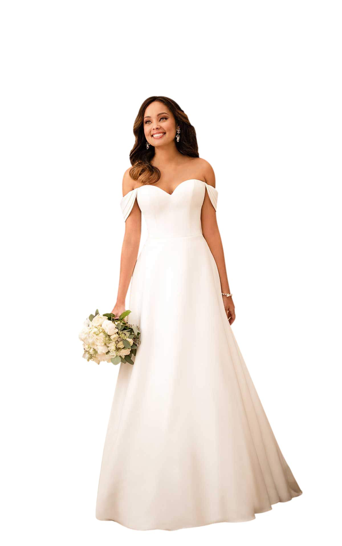 VinBridal Womens Backless Satin Long Bridal Gown Wedding Dress with Train
