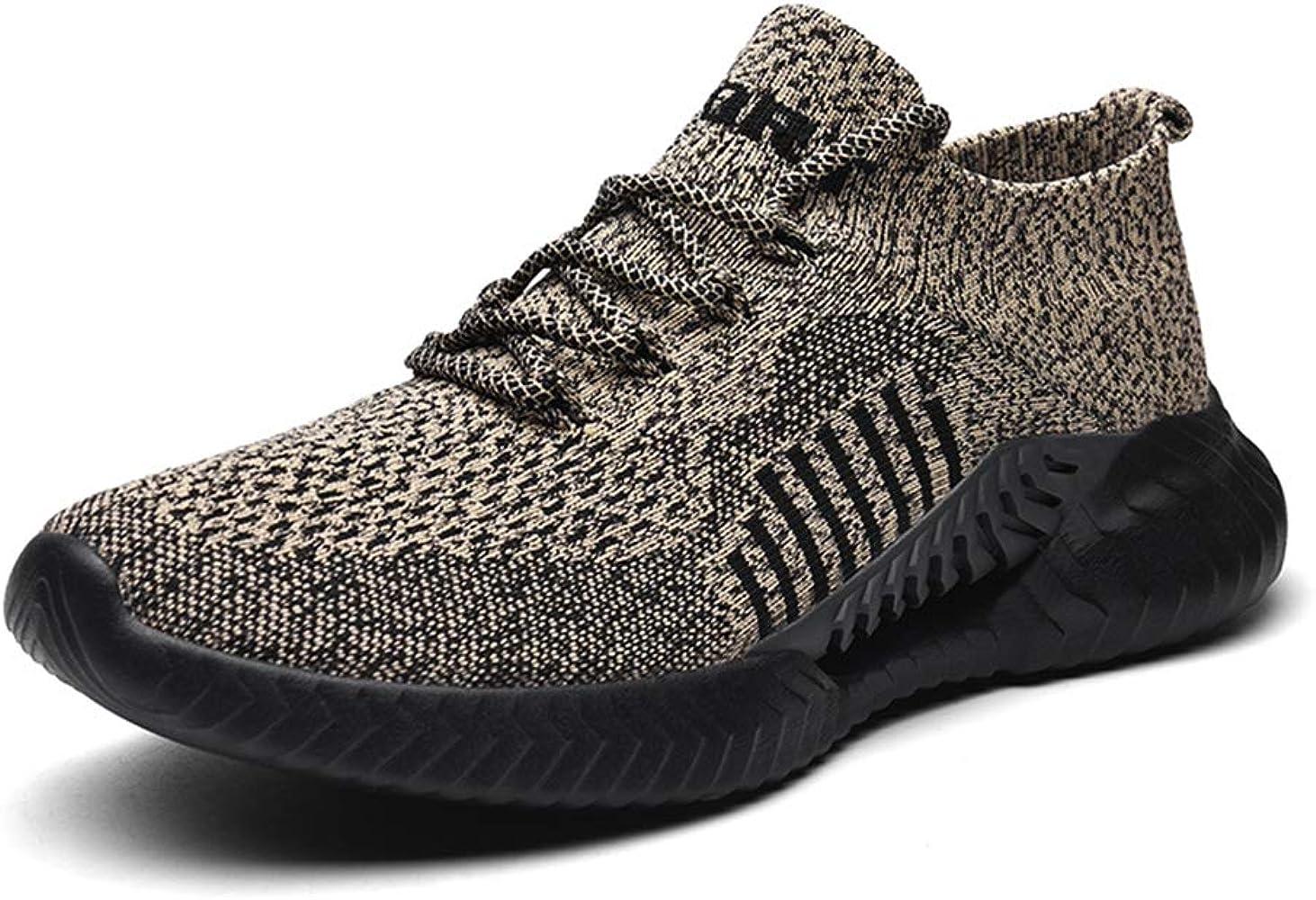 TQGOLD® Zapatillas Running para Mujer Hombre Antideslizantes Ligeras Zapatillas de Deportivas Gimnasio Transpirables Malla Sneakers 97Caqui 37: Amazon.es: Zapatos y complementos