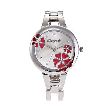 XKC-watches Relojes para Hombres, Creativo Amor Flores Reloj ...
