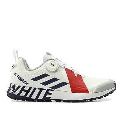fc000b6fd adidas Men White Mountaineering Terrex Two Boa White Collegiate Navy red  Size 8.0 US
