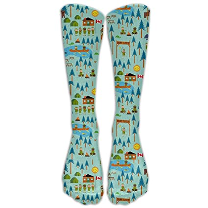 1f1d28c97 Image Unavailable. Image not available for. Color  Sjmuch5 Boy Scouts Camp  TurtleKnee High Athletic Socks Comfortable Knee High Graduated Compression  ...