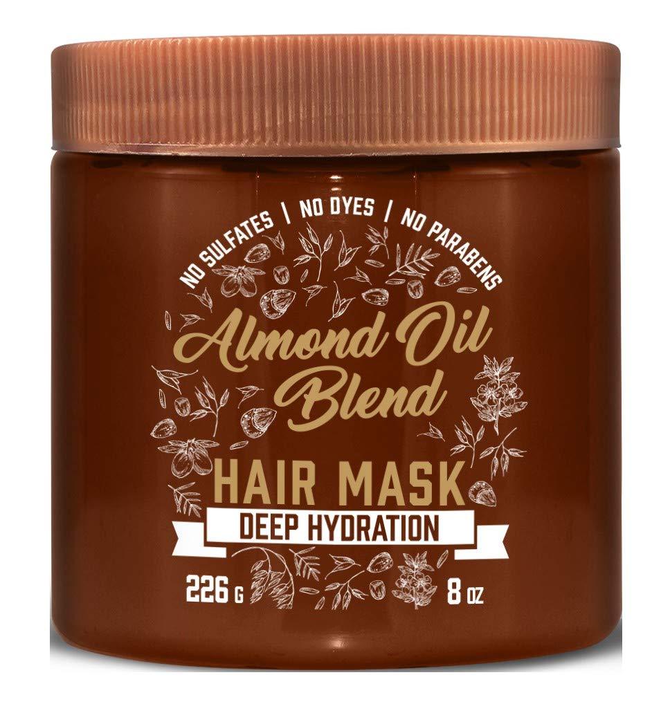 Aveeno Hair Mask Almond Oil Blend 8 Ounce Jar (Deep Hydration) (2 Pack)