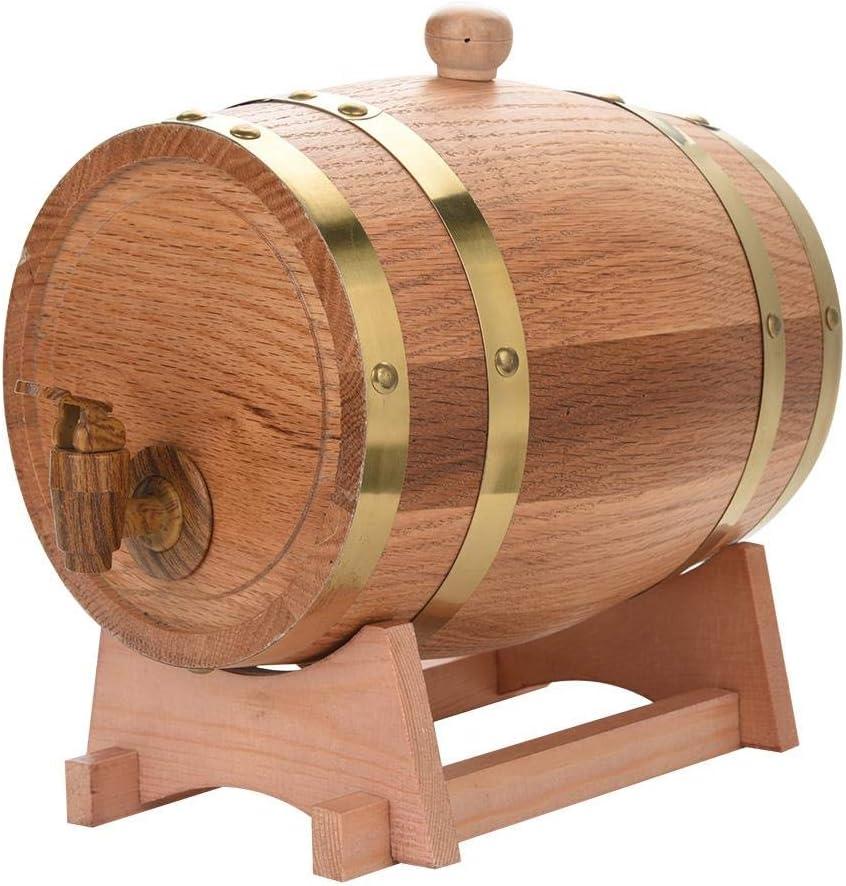 3 l Botte da vino in legno di quercia in legno di quercia whiskey rum per il porto di birra