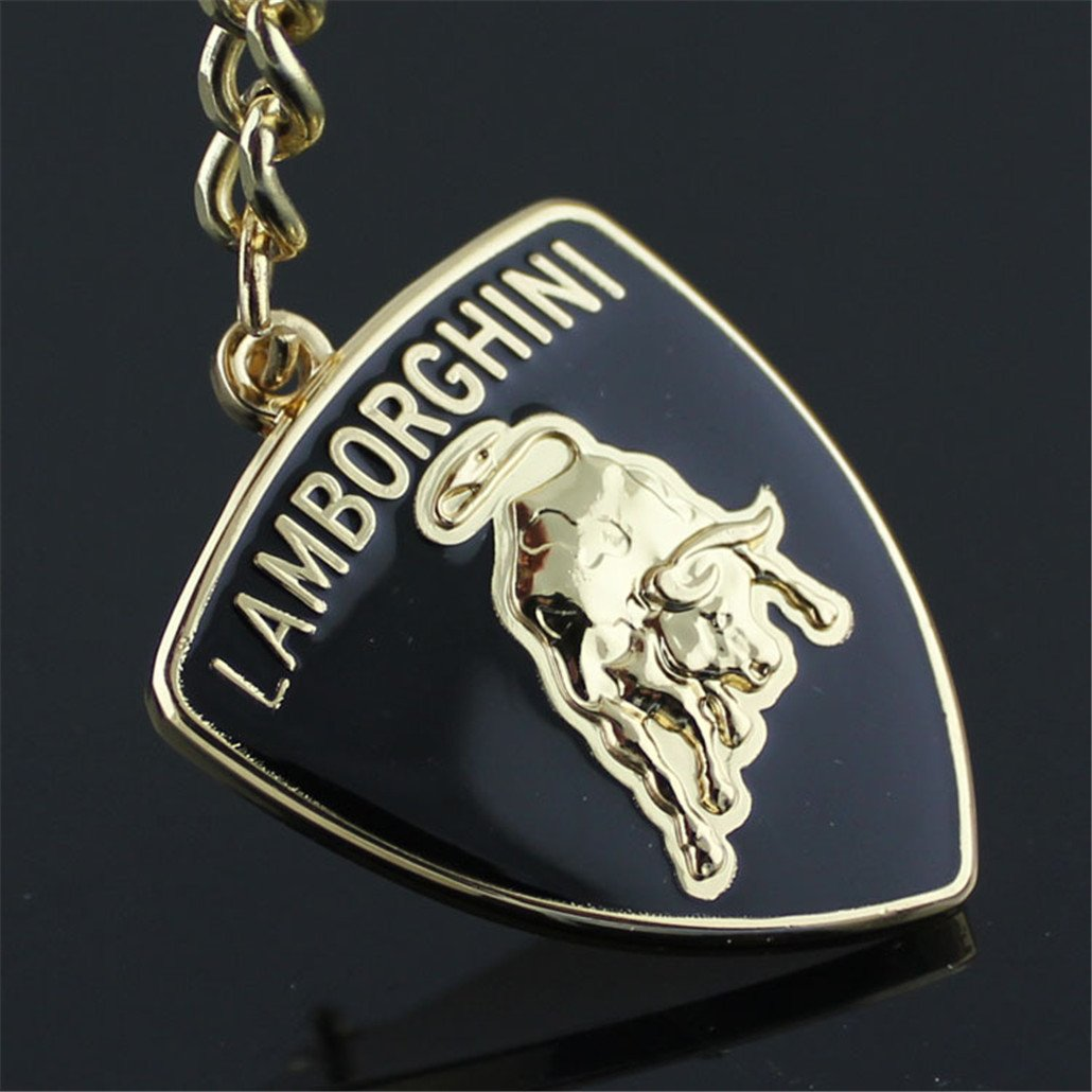 Fashion Metal Car Logo Keychain Key Chain Keyring Key Ring For Lamborghini