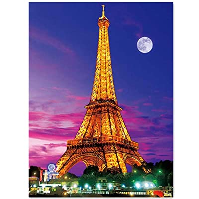Full Drill 5d Diamond Painting Kits Cross Stitch Craft Kit DIY Kits Kids Adults Paint Number Kits (Tower, 30x40cm, Square Drill): Toys & Games