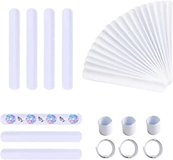 Umikk Slap Bracelets, 110 PCS Blank Slap Bracelets, White Slap Bands, Party Bracelets for DIY