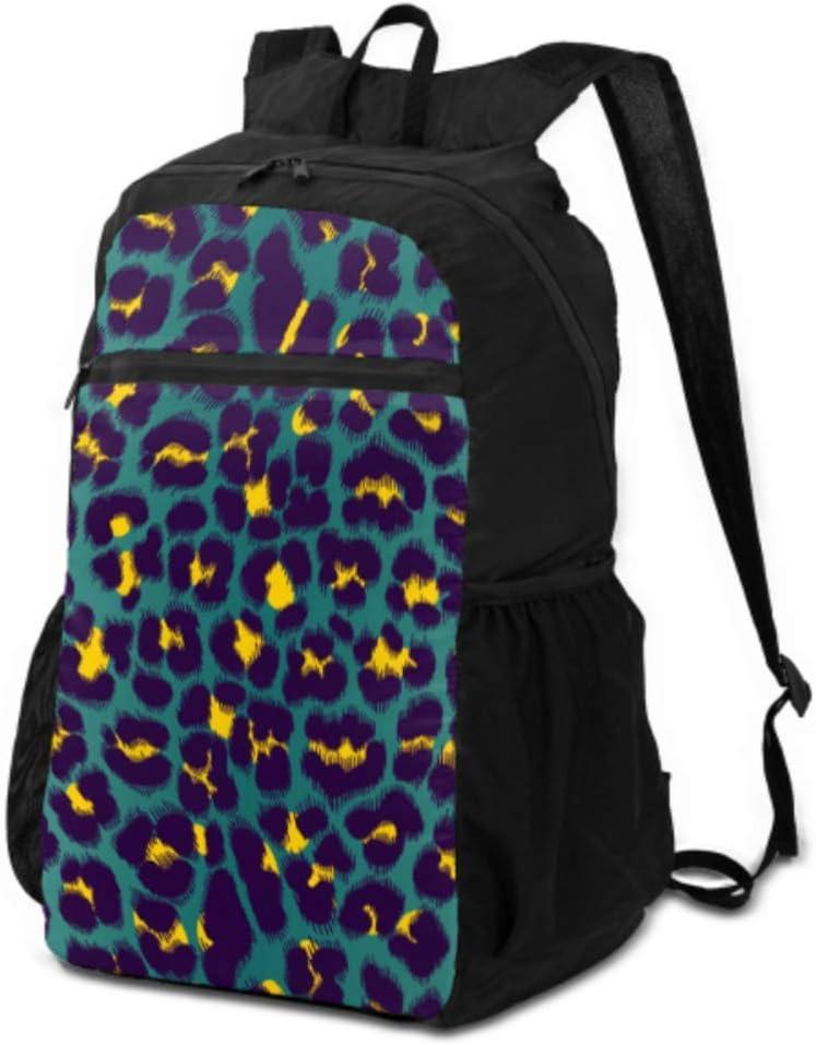 JOCHUAN Laptop Daypacks For Travel Leopard Texture Jaguar Skin Hiking Daypack Men Hiking Day Bag Lightweight Waterproof For Men & Womentravel Camping Outdoor