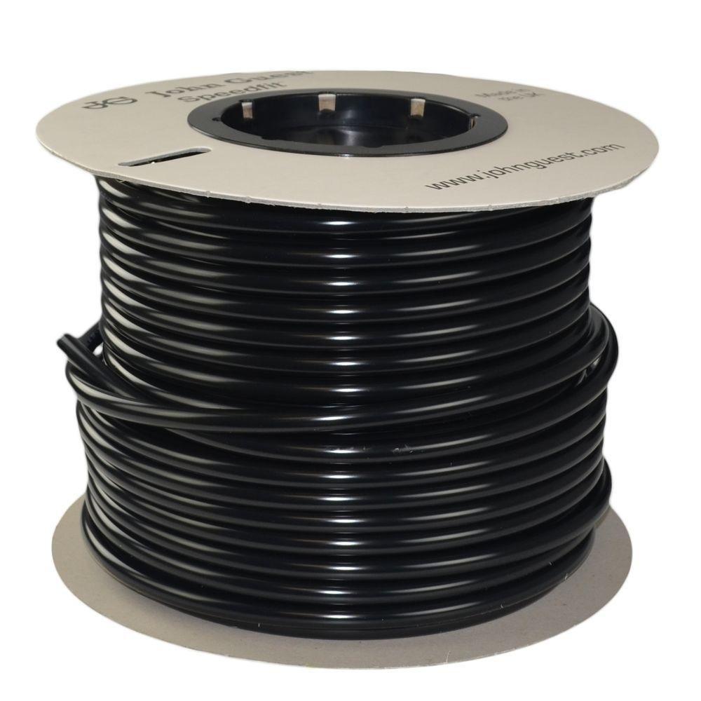 John Guest Black 250 ft/roll 1/2'' Polyethylene Tube Tubing Drinking Water RO Reverse Osmosis DI Aquarium Pipe LLDPE