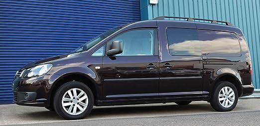 Barras de techo para L2 Caddy Maxi (2004-15) aluminio negro: Amazon.es: Coche y moto