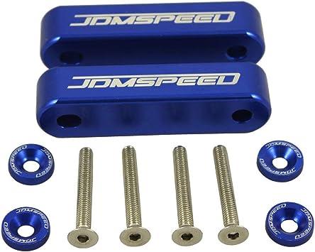 Bolts JDMSPEED Neo Chrome CNC Billet 3//4 Hood Vent Spacer Riser Kit Washers