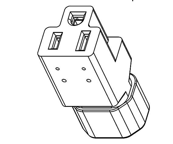 Cordtec Power Plug Adapter Iec C14 To U S Regular Household Female