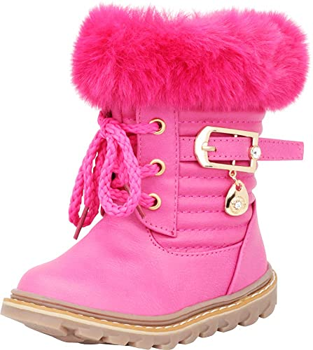 7d6afd9520d3 Cambridge Select Baby Girls  Faux Fur Crystal Rhinestone Lace-Up Boot ( Infant