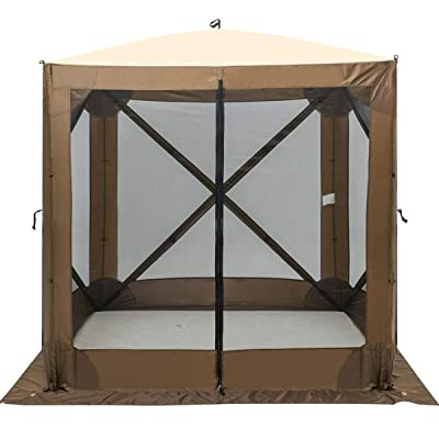 AchieveUSA Portable Pop Up 4 Sided Canopy Instant Gazebo Screen Tent Shelter: Sports & Outdoors