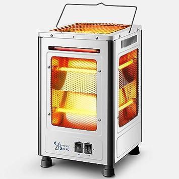 Calentador de espacio de cuarzo infrarrojo, estufa de chimenea eléctrica portátil con calentador de barbacoa
