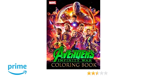 MARVEL Avengers Infinity War Coloring Book Great Activity For Kids And Any Fan Of Frank Loudy 9781987539004 Amazon Books