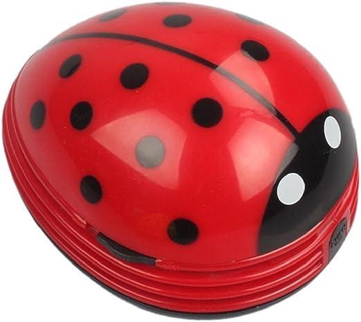 Chofit Adorable Mini Limpiador de Escritorio, Escarabajo portátil Aspirador Miga barredora Escritorio Hoover Mini Hoover (Rojo): Amazon.es: Hogar