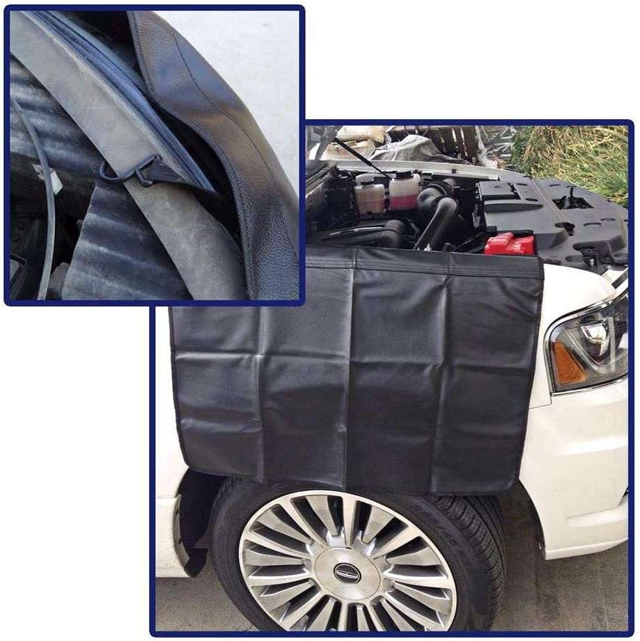 Calmson Car Fender Wing Mud Guard Cover 3 PCS Magnetic Auto Fender Cover Mat with Anti-Scratch Dirt-Proof for Repairing