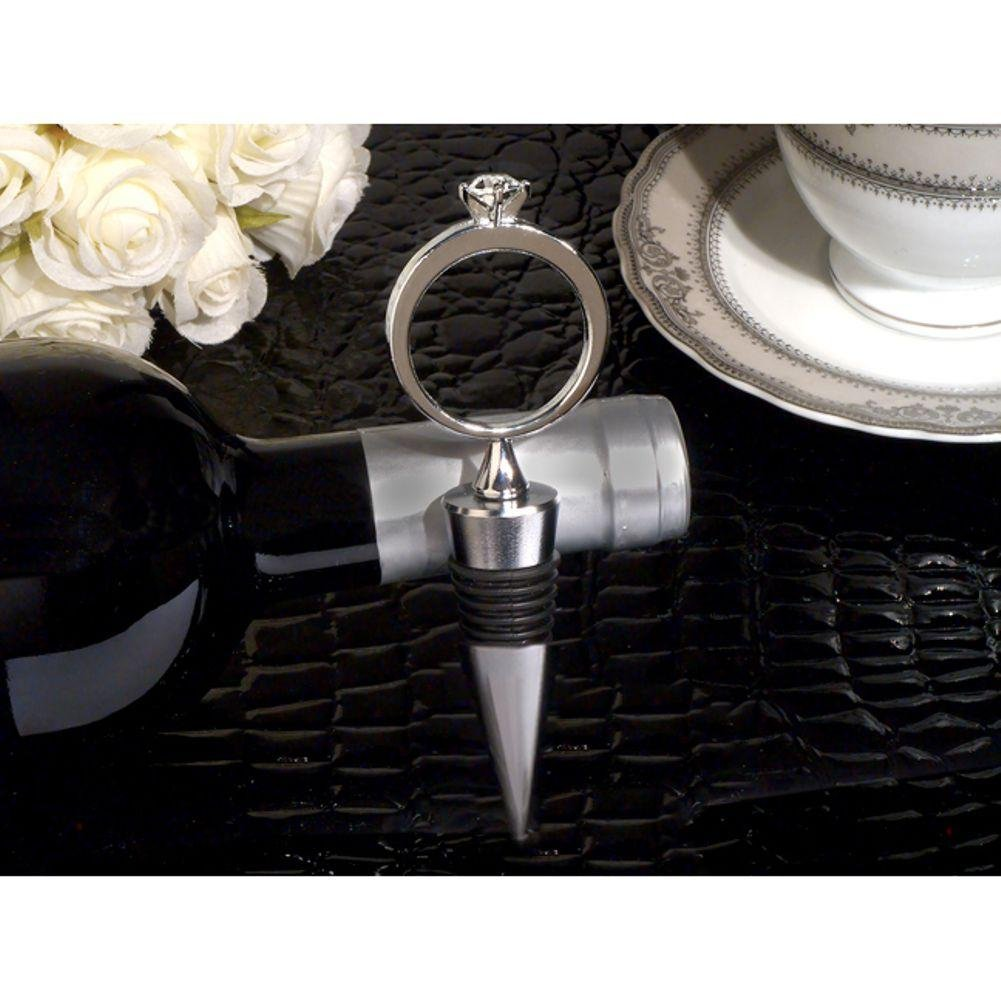 Bling A Diamond Ring Silver Wine Stopper - 36 Pieces