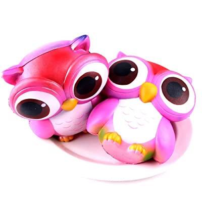 Thinktoo 15cm Lovely Pink Owl Cream Scented Slow Rising Toys Collection for Baby, Kiddie, Kids, Adult, Infant, Toddlers Sports Outdoor Play Toys: Arts, Crafts & Sewing