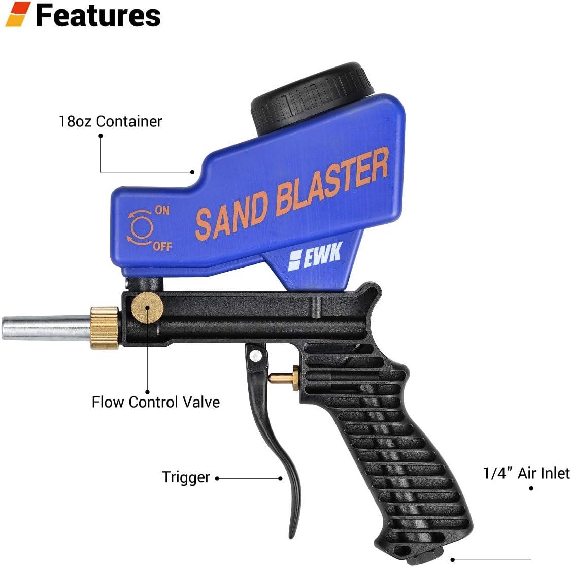 alimentaci/ón por gravedad aire de chorro de arena pistola abrasiva Pistola de chorro de arena