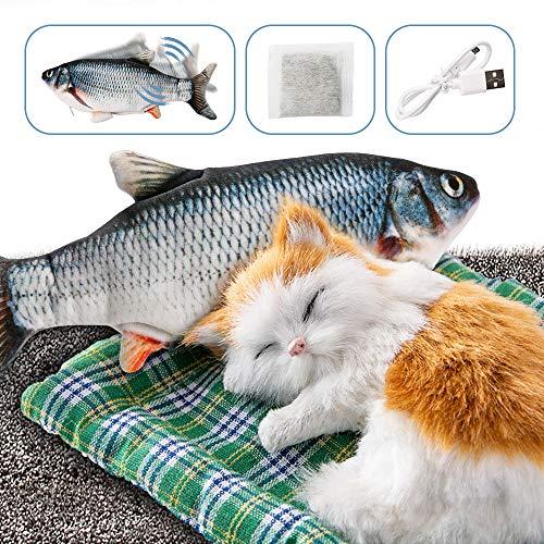 🥇 DazSpirit Juguete Pez para Gato – Catnip Incluido