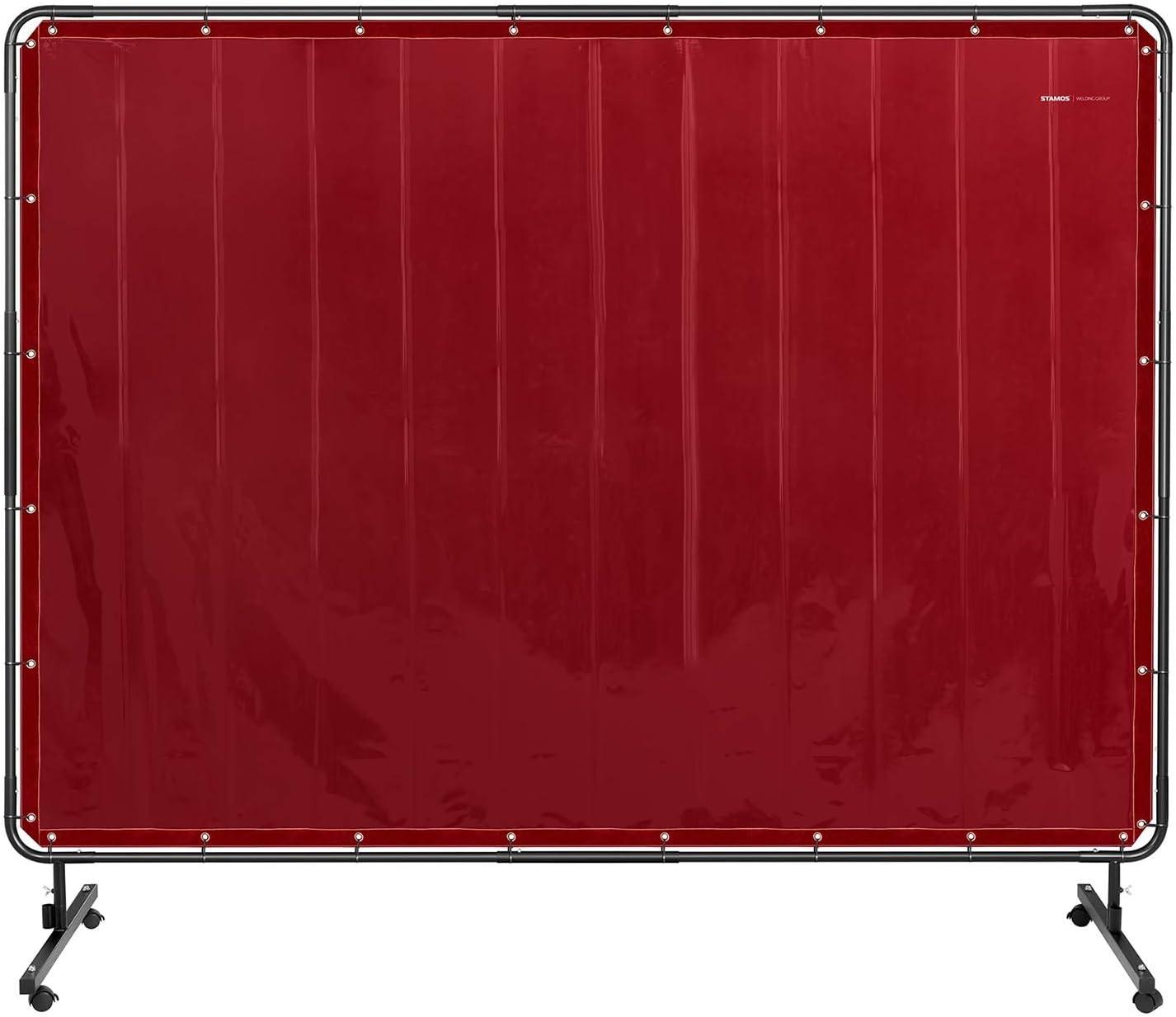 239 x 196 cm, Conformit/é EN ISO 25980, Coutures KEVLAR/®, Vinyle 0,4 mm, Cadre En Acier Inclus Stamos Welding Group Rideau De Soudure B/âche Ignifug/ée /Écran De Protection Ignifug/é Accessoire SWS04
