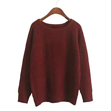 2e78abf24239 Girl Loose Pullover Sweater Autumn Women Knitted Sweater Pullovers ...
