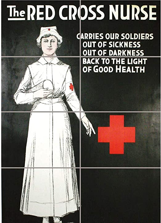 District Nurse Retro Repro Rustic sign