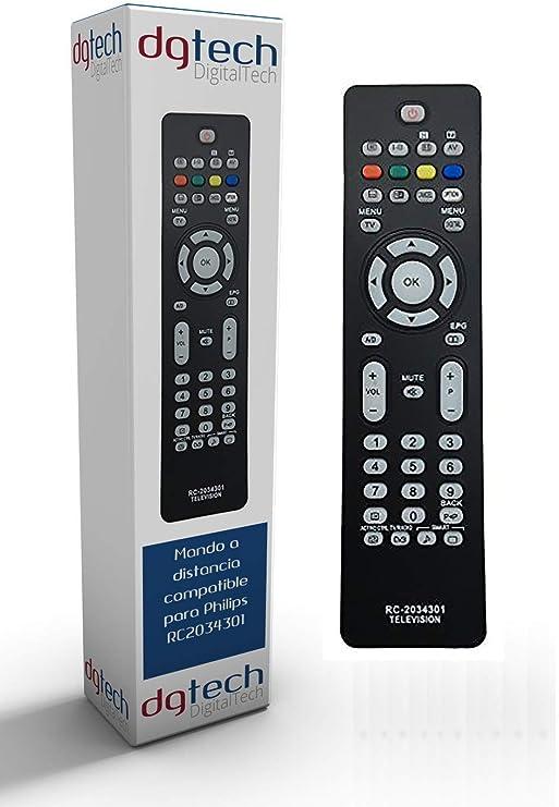 DigitalTech® - Mando de sustitución para televisores Compatible Philips RC2034301/01: Amazon.es: Electrónica