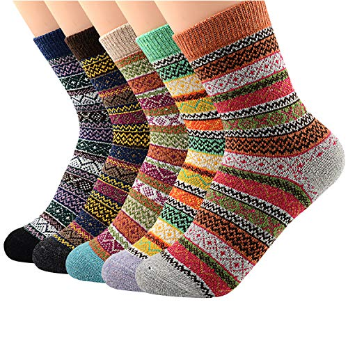 Zando Athletic Sports Knit Pattern Womens Winter