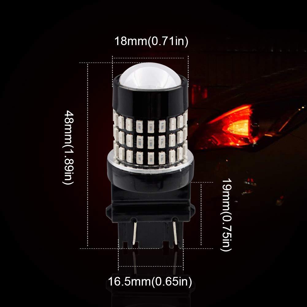 Safego 2Pcs 3157 3156 LED Turn Signal Light Bulbs Yellow 3047 3057 3057A 3357 4057 3155 78SMD LED Light Auto Tail Backup Brake Light Lamp DC 12V 1600LM 3157-78D-3014Y-2