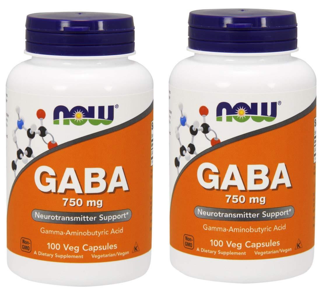 Now GABA 750mg, 100 Vcaps (2pack)
