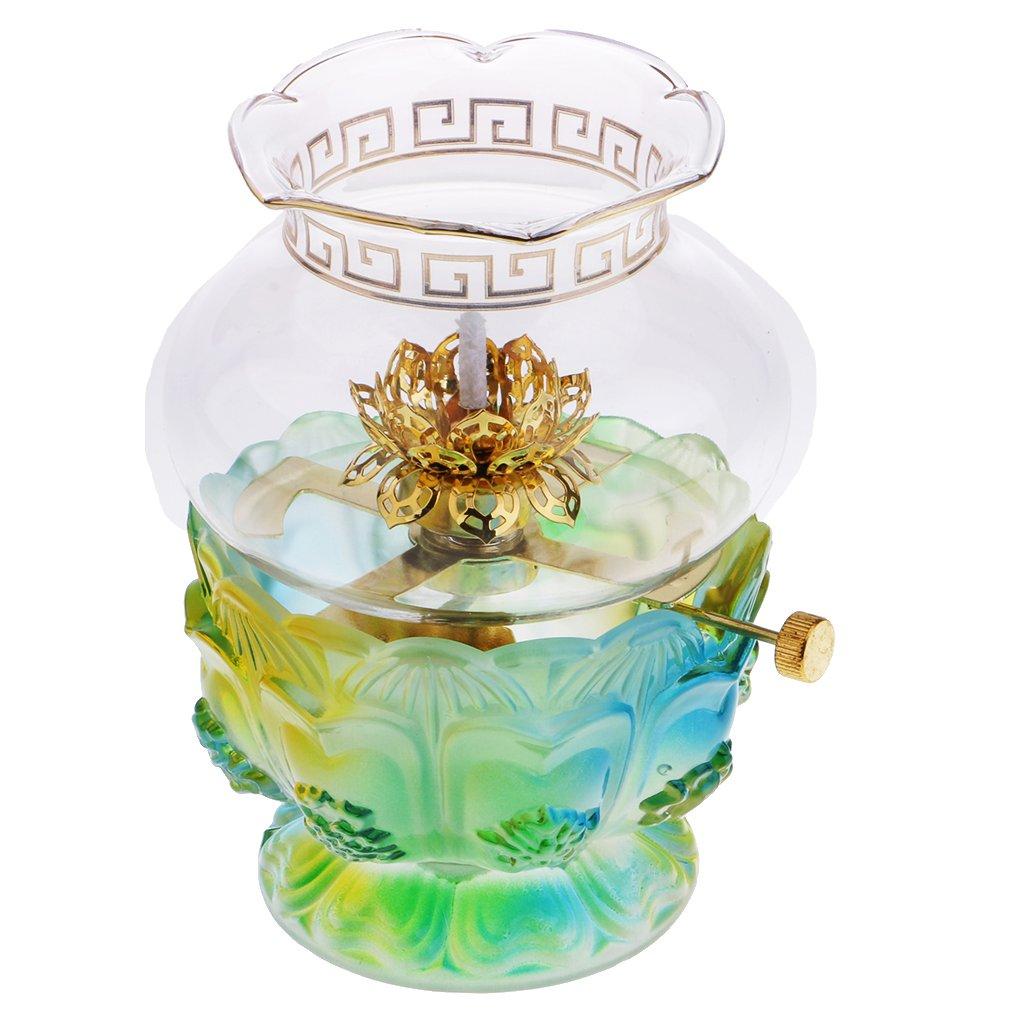 Typ 1 Homyl Buddhistische Ghee Lampe /Öllampe mit Docht Haus B/üro Dekoration