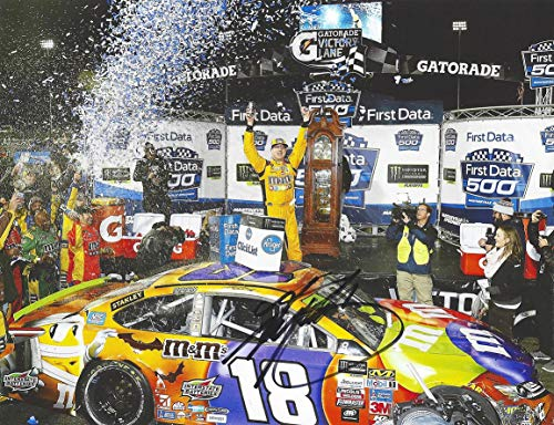 AUTOGRAPHED 2017 Kyle Busch #18 M&M HALLOWEEN MARTINSVILLE RACE WIN (Victory Lane Celebration) Monster Energy Cup Series Signed Collectible Picture 9X11 Inch NASCAR Glossy Photo with COA]()