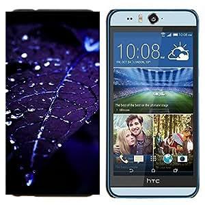 YiPhone /// Prima de resorte delgada de la cubierta del caso de Shell Armor - Hoja gotitas de agua Blue Night Moonlight - HTC Desire Eye M910x