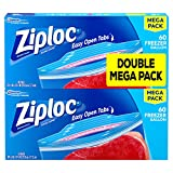 Ziploc Freezer Bags, Gallon, 120 Count