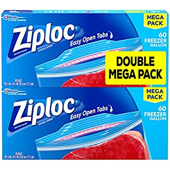 ziploc easy open tabs storage gallon bags 52 count pack of 4 health personal care. Black Bedroom Furniture Sets. Home Design Ideas