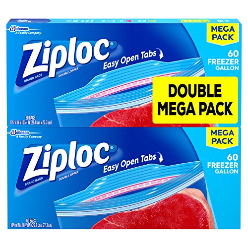 Price comparison product image Ziploc Freezer Bags, Gallon, 120 Count
