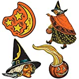 Beistle 4-Pack Halloween Cutouts, 6-1/2-Inch to 10-1/2-Inch