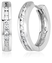 Channel-Set Diamond Hoop Earrings - What To Get Your Girlfriend For Christmas