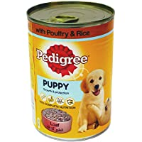 Pedigree Poultry and Rice, Wet Dog Food Puppy up to 12 Months, Can of 400 g