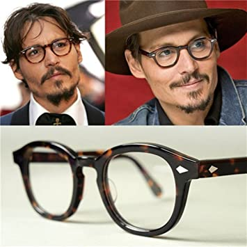 0b2067a436 Amazon.com  Vintage Eyeglasses Johnny Depp Glasses the Most Popular ...