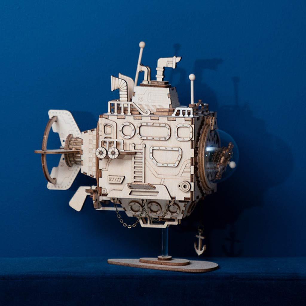 【限定製作】 Flurries クリエイティブ DIY 3D ロボット C 木製パズルゲーム 3D アセンブリ オルゴール オルゴール Flurries02 B07L3NLCDG C, スマホケース:b8feb7e7 --- arcego.dominiotemporario.com