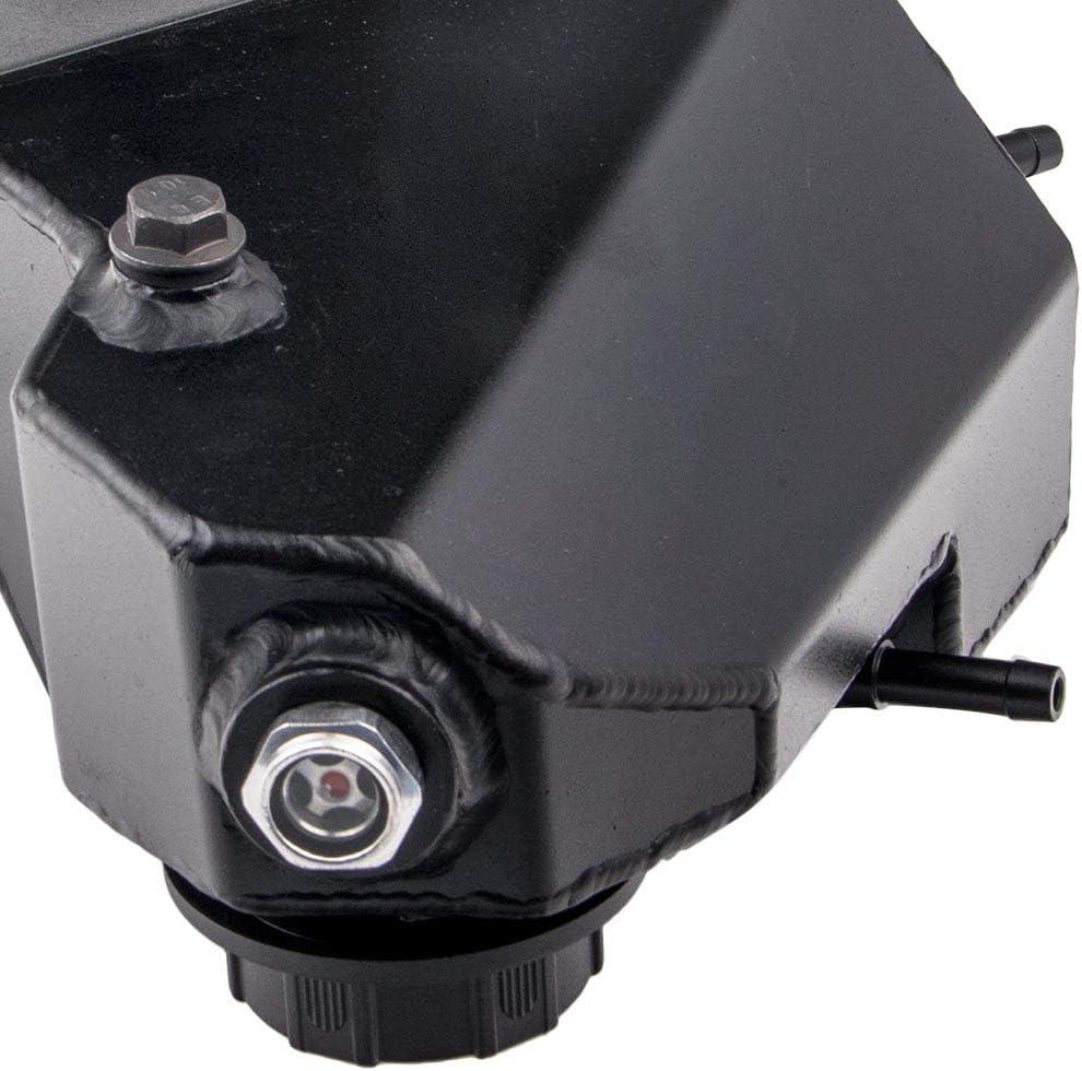 Black Aluminum Expansion Tank Degas Bottle for Ford F250 F350 V8 6.0L 2003-07