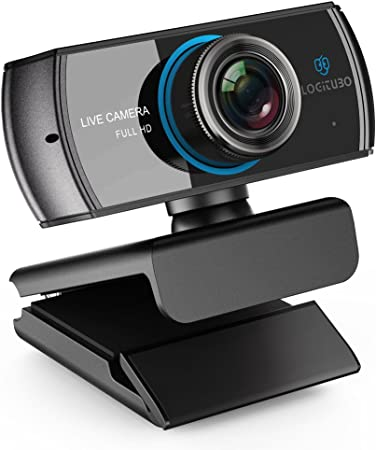 LOGITUBO CáMara Web, Webcam Full HD 1080P Doble MicróFono para ...